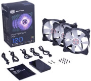 COOLERMASTER MASTERFAN PRO 120 AIR FLOW RGB 3 IN 1 WITH RGB LED CONTROLLER υπολογιστές   case modding