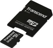 transcend ts64gusdxc10 64gb micro sdxc class 10 premium with adapter photo