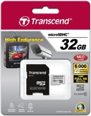 transcend ts32gusdhc10v 32gb high endurance micro sdhc class 10 with adapter photo