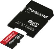 transcend ts128gusdu1 128gb micro sdxc class 10 uhs i 400x premium with adapter photo