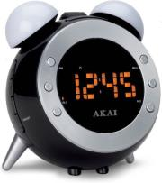 akai ar280p projection clock radio black silver photo