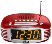 akai ar400rd digital alarm clock radio red photo