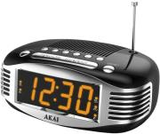 akai ar400 digital alarm clock radio black photo