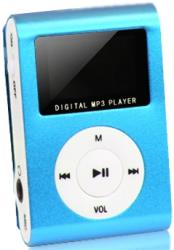 setty mp3 player with lcd earphones blue slot photo