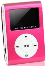 setty mp3 player with lcd earphones pink slot photo