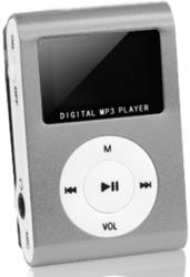 setty mp3 player with lcd earphones silver slot photo