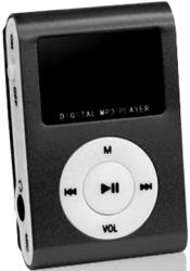 setty mp3 player with lcd earphones black slot photo
