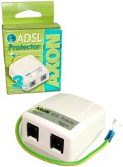 acar axon adsl protector 2xrj11 12 white photo