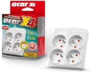 acar surge protector x4 4 sockets grey photo