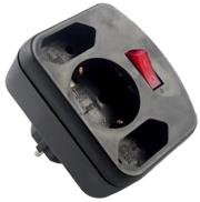 rev combi adapter 2 1socket black me diakopti photo