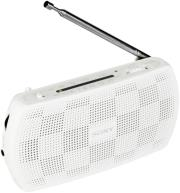 SONY SRF-18W PORTABLE AM/FM RADIO WHITE ήχος   εικόνα   radios