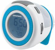 grundig sonoclock 220 fm rds clock radio white blue photo