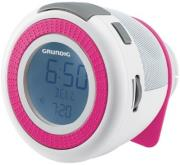 grundig sonoclock 220 fm rds clock radio white pink photo