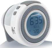 grundig sonoclock 230 usb fm rds clock radio white grey photo