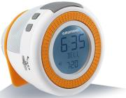 grundig sonoclock 230 usb fm rds clock radio white orange photo