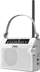 sangean fm am compact analogue tuning portable receiver white photo