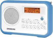 sangean pr d18 fm stereo am digital tuning portable receiver white blue photo