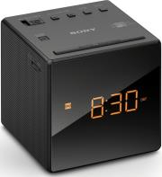 sony icf c1b alarm clock with fm am radio black photo
