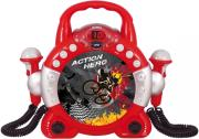 soundmaster kcd46ro sing a long cd player with dual microphones for children red photo
