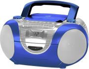 soundmaster scd5350bl cd boombox with radio cassette and external microphone blue photo