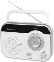 soundmaster tr410ws portable am fm radio white photo