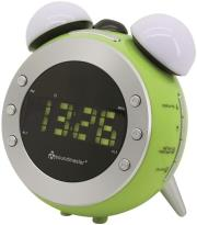soundmaster ur140gr am fm clock radio with projection and dimming light green photo