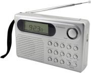 soundmaster we320 10 band radio with lcd alarm clock silver photo