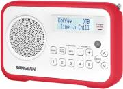 sangean dpr 67 dab fm rds digital radio receiver white red photo