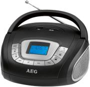 aeg sr 4373 radio with sd usb black photo