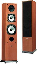 acoustic energy aegis evo 3 floorstanding speakers set dark maple brown photo