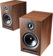 acoustic energy 101 stand mount loudspeaker set walnut vinyl photo
