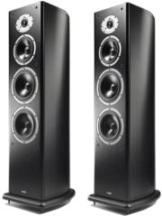 acoustic energy aelite 3 floorstanding speakers set black veneer photo