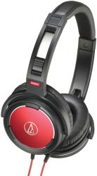 audio technica ath ws55 solid bass over ear headphones red black photo