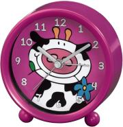 hama 113932 cow kids alarm clock pink photo