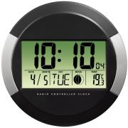 hama 104936 pp 245 dcf radio wall clock black photo