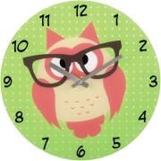hama 136214 wall clock owl with glasses photo