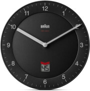 braun bnc006 classic wall clock grey photo