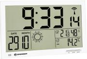 bresser mytime jumbo lcd weather wall clock white photo
