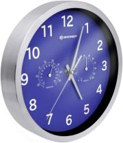 bresser mytime thermo hygro wall clock 25cm blue photo