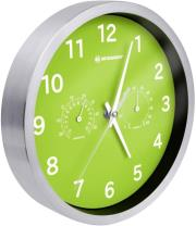 bresser mytime thermo hygro wall clock 25cm green photo