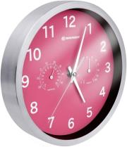 bresser mytime thermo hygro wall clock 25cm pink photo