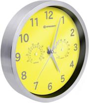 bresser mytime thermo hygro wall clock 25cm yellow photo