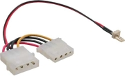 inline 3 pin to 4 pol molex fan adapter cable photo