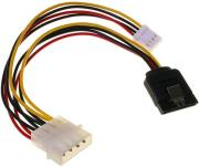 inline sata power adapter cable with 4 pin floppy 15cm photo