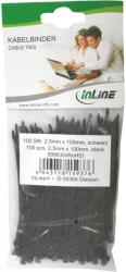inline cable ties set 100mm white 100 pcs photo