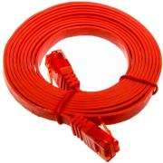 inline patch cable flat u utp cat6 3m red photo