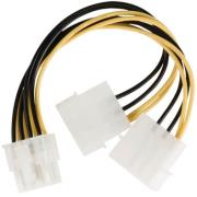 valueline vlcp74400v015 internal power splitter cable eps 8 pin 2x molex male 015m photo