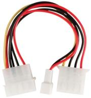 valueline vlcp74030v015 internal power adapter cable molex male female 2 pin fan power 015m photo