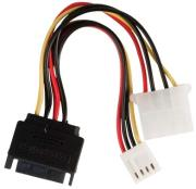 valueline vlcp73550v015 internal power adapter cable sata 15 pin male molex fdd female 015m photo