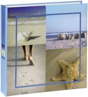 hama 106282 sea shells memo album 10x15 200 blue photo